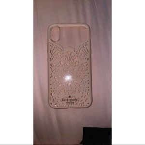 Kate Spade Pink Lace Cage iPhone X Case